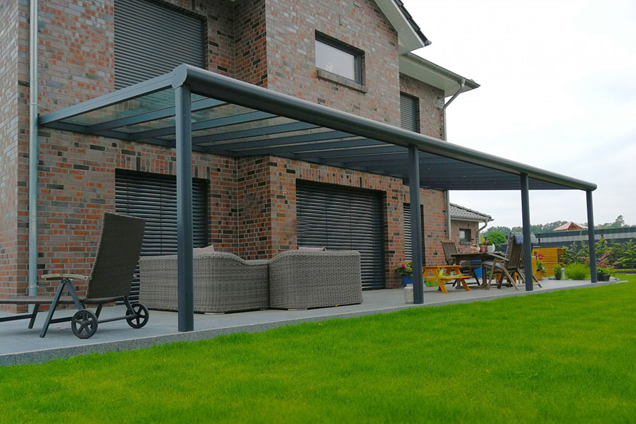 Anthracite Grey Veranda Covering A Patio
