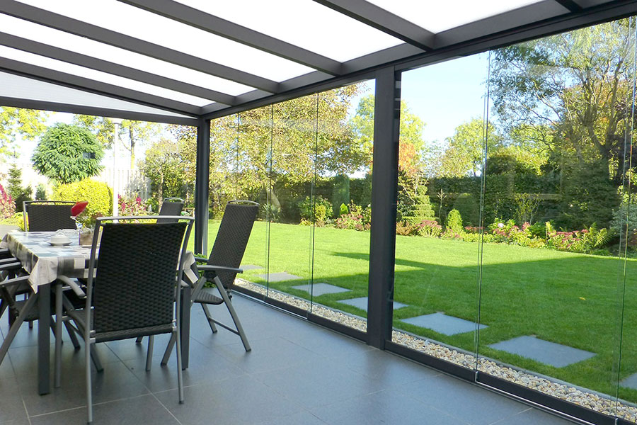 Glass Sliding Doors On Veranda