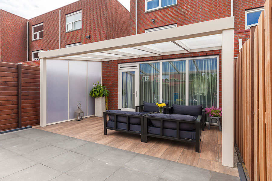 White Framed Aluminium Veranda From Wrp